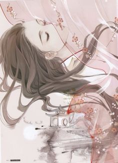 English translation anyone? Is the artist Ibuki Satsuki? Thank you in advance! 凝眸处,从今又添,一段新愁。
