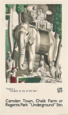 (sold) Jean Dupas (1882-1964), There's a Transport of Joy at the Zoo, 1933. Lithograph in colours. 39 x 23 1/2 in. (99 x 60 cm.) Estimate: £3,000-5,000