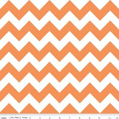 Medium Chevrons in Orange by Riley Blake 1 yd Cotton Quilt Fabric