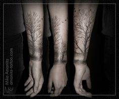 Bad example of forest tattoo