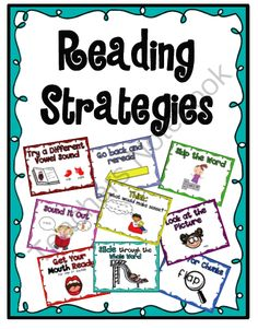 Reading Strategies Posters and bookmark from Sarah Paul on TeachersNotebook.com (10 pages)