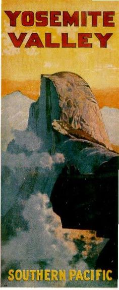 Lovely vintage travel poster for Yosemite National Park