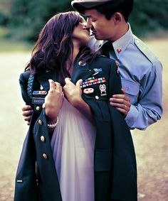 cute for military wedding/engagement photos