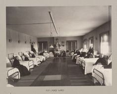 Orphan Asylum: City Hospital and Orphanage, Ogdensburg, N.Y. (Under the direction of the Grey Nuns of the Cross): Old Ladies Ward., c. 1900