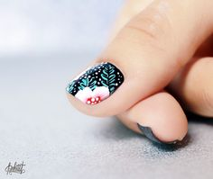 Easy one stroke nailart