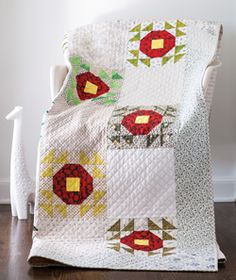 Crown of Thorns by Mary Fons is a traditional quilt gone modern.
