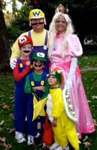 Josh and I already have Mario and Peach but Ez was Toad last year, so we need to rethink his costume if we go w/ this...