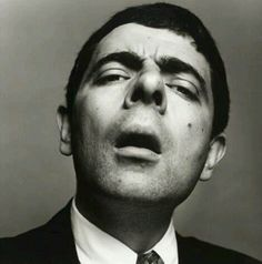 Rowan Atkinson, grande ator e comediante Mr Bean, Face Expressions, Celebrity Portraits, Black And White Portraits, Interesting Faces, Celebs, Celebrities, Funny Faces, Silly Faces