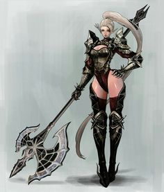 Check out this awesome piece by Kyung Han Kim on Fantasy Girl, Fantasy Female Warrior, Elf Warrior, Chica Fantasy, Female Armor, Female Knight, Warrior Girl, Fantasy Armor, Dark Fantasy Art