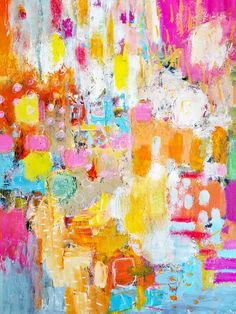 Abstract Canvas, Oil Painting On Canvas, Art Disney, Modern Art Paintings, Abstract Paintings, Contemporary Abstract Art, Colorful Abstract Art, Colorful Artwork, Abstract Landscape