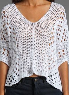 Crochet tunic PATTERN, designer crochet tunic pattern, boho crochet top Perfect crochet pattern for making a designer boho tunic. Comes with detailed do-it-yourself PDF instructions and charts. Blouse Au Crochet, Poncho Crochet, Crochet Tunic Pattern, Pull Crochet, Mode Crochet, Easy Crochet, Crochet Stitches, Crochet Tops, Crochet Gratis
