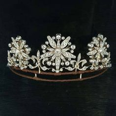 A late 19th century diamond tiara, circa 1890