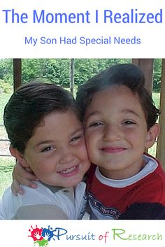 """THE MOMENT I REALIZED MY SON HAD SPECIAL NEEDS  Sometimes things hit you like a ton of bricks, other times it can be something as subtle as the question""""hot dog or hamburger?"""" ~Lisa Geng [caption id=""""attachment_8311"""" align=""""aligncenter"""" width=""""469""""] Tanner and his older brother Dakota hugging[/caption] I knew from the moment I saw my older son that there was something profoundly wrong. He entered the …"""