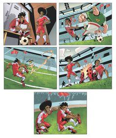 Supa Strikas Strips Page by Eduardo Ferrara