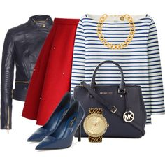 """""""Blue and Red"""" by debpat on Polyvore"""