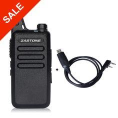 Zastone ZT-X6 Professionale Long Range Walkie Talkie Mini UHF Handheld Radio Portatile Bidirezionale Ham Radio + Cavo di Programmazione