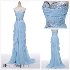 Custom Made A line long sleeves prom dresses cheap by FreePeoples, $195.99