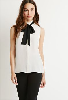 Pleated Bow-Front Blouse | Forever 21 Canada