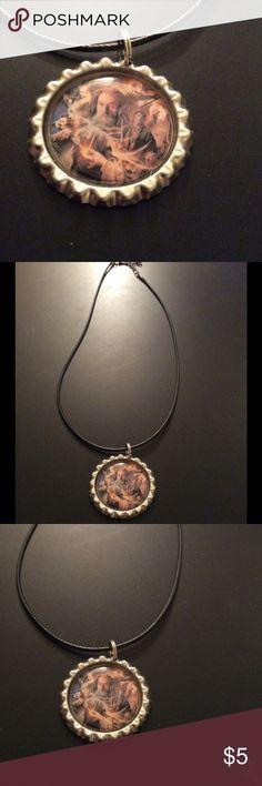 NWOT handmade Gandolf bottle cap necklace NWOT handmade Gandolf bottle cap necklace Jewelry Necklaces