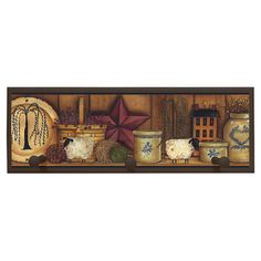 Found it at Wayfair - Country Pottery Wall Art with Pegs