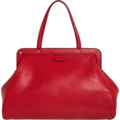 Valextra Large Caju Mirror Tote - Red ($2,990) ❤ liked on Polyvore