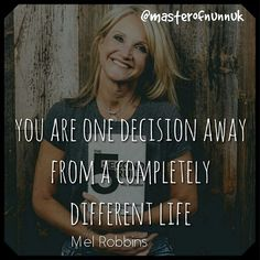 Reposting @masterofnunnuk: Now famous for her '5 second rule', Mel woke one day and made a decision that would completely turn her life around. Have you discovered Mel Robbins? Like, Comment and Follow: @masterofnunnuk #motivation #success #inspiration