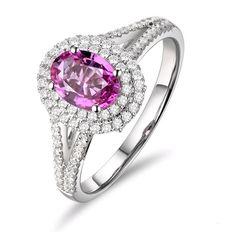 Aliénor Bague Saphir Diamant or blanc 18 CT