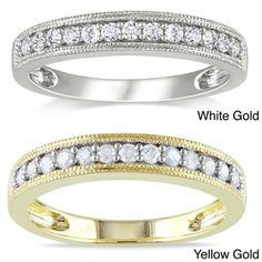 @Overstock.com - Miadora 10k Gold 1/4ct TDW Diamond Wedding Ring (H-I, I2-I3) - Click here for Ring Sizing Chart.Classic diamond wedding bandJewelry is crafted of 10-karat white or yellow gold  http://www.overstock.com/Jewelry-Watches/Miadora-10k-Gold-1-4ct-TDW-Diamond-Wedding-Ring-H-I-I2-I3/4569547/product.html?CID=214117 $287.23