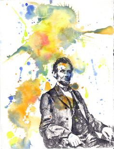 Abraham Lincoln Portrait Painting - 8 X 10 in. Fine Art Print