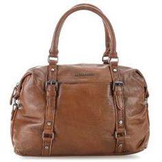 50c213c4ec FredsBruder Around The World Handbag grained cowhide chocolate