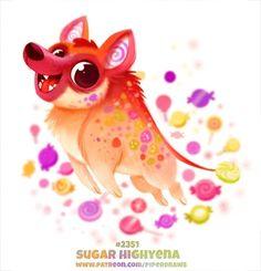 Cute Food Drawings, Cute Animal Drawings Kawaii, Kawaii Drawings, Cute Fantasy Creatures, Mythical Creatures Art, Cute Creatures, Animal Puns, Animal Food, Cute Art