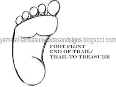 Yamashita Treasure Codes and Signs: Foot Symbol In Your Dig Site