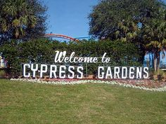 Cypress Gardens in Florida. On one vacation we went here after visiting sister-in-law.