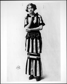 Fanny Brice-1910 Ziegfeld Follies; Why don't we wear cool dresses like this anymore?