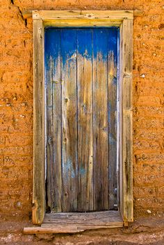 """Old Weathered Door with Blue - 8x12/11x17 or 12x18/16""""x24"""" Photo Print Only w/ Paper Options. Mounting & Finishing Options Available."""