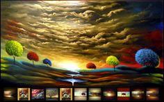 25 Colorful Landscape Paintings by Artist Matthew Hamblen