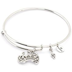 Chrysalis Music White Expandable Bangle Bracelet ($32) ❤ liked on Polyvore featuring jewelry, bracelets, bracelets bangle, hinged bangle, bangle bracelet, expandable bangles and white bangle bracelet