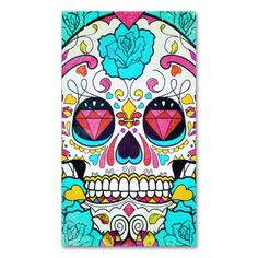 Hipster Sugar Skull and Teal Blue Floral Roses Business Cards. I love this design! It is available for customization or ready to buy as is. All you need is to add your business info to this template then place the order. It will ship within 24 hours. Just click the image to make your own!