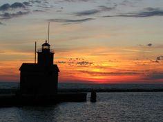 Holland Sunset watching the sun go down on Lake Michigan, sigh
