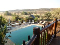 Het zwembad van Kololo Game Reserve, Marakele Nationaal Park, Limpopo, Zuid-Afrika  (Trudi)