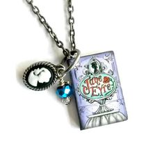 Jane Eyre Miniature Book Necklace with by AuntMatildasJewelry