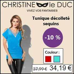 #missbonreduction; Déstockage : réduction de 10 % sur la Tunique décolleté sequins chez Christineleduc.http://www.miss-bon-reduction.fr//details-bon-reduction-Christineleduc-i858720-c1833261.html