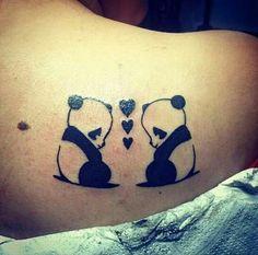 Tatuaje de pandas #love #tattoo #ink #panda