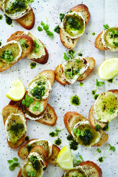 Grilled Goats Cheese Bruschetta /