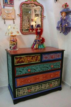 Funky Furniture Quality Furniture for Sale Whimsical Painted Furniture, Painted Chairs, Hand Painted Furniture, Paint Furniture, Furniture Projects, Furniture Makeover, Painted Desks, Decoupage Furniture, Funky Furniture