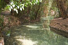 Baden in heißen Quellen in Australien