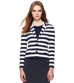 ToryBurch #stripes #blazer #nautical spring jacket