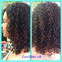 Curls popping after a dry cut and colour.