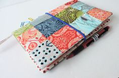 Patchwork Hobonichi cover A5, leuchtturm 1917 cover, A5 patchwork notebook cover, Midori Md, A5 bullet journal cover.