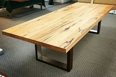 Messmate DAR timber laminated dining table crafted by #lupofurniture